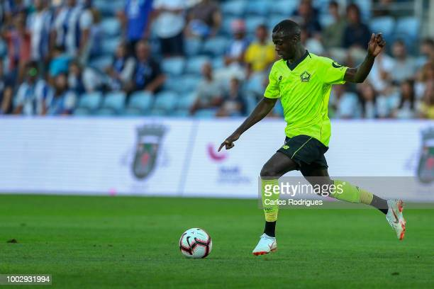 Lille forward Nicolas Pepe from Ivory Coast during the match between FC Porto v LOSC Lille for Algarve Football Cup 2018 at Estadio do Algarve on...