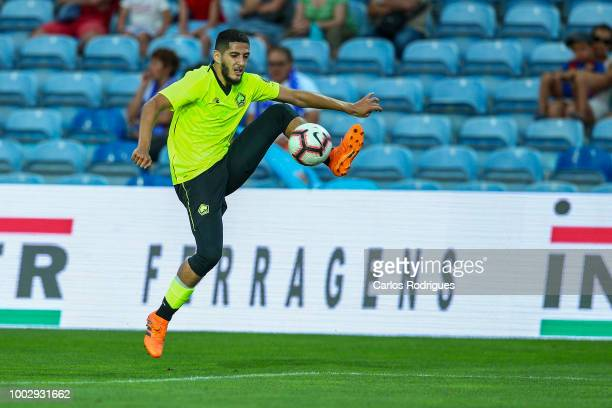 Lille forward Yassine Benzia from Algeria during the match between FC Porto v LOSC Lille for Algarve Football Cup 2018 at Estadio do Algarve on July...