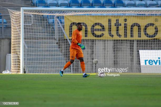 Lille goalkeeper Mike Maignan from France during the match between FC Porto v LOSC Lille for Algarve Football Cup 2018 at Estadio do Algarve on July...