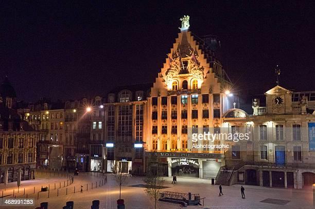 lille グランパレ夜 - リール市 ストックフォトと画像
