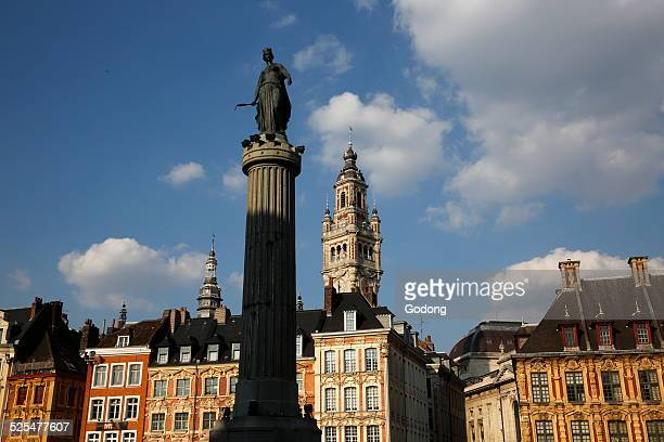 Lille Grand Place Column of the Goddess