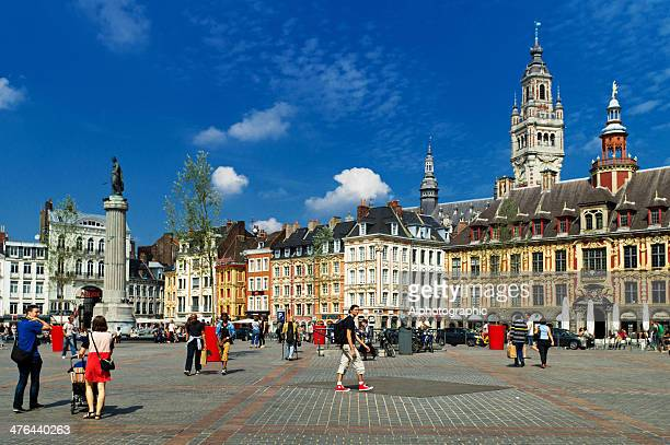 lille grand place - hauts de france stock photos and pictures