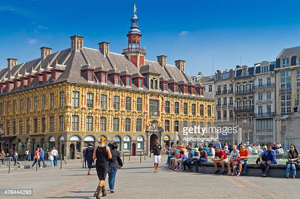 lille grand place - lille stock pictures, royalty-free photos & images