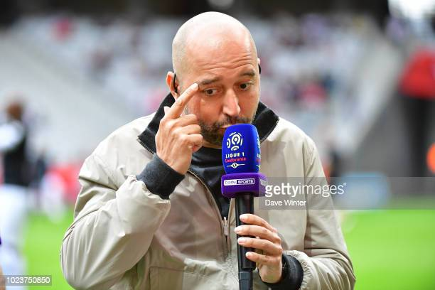 Lille president Gerard Lopez gives an interview for television before the Ligue 1 match between Lille and Guingamp on August 26, 2018 in Lille,...