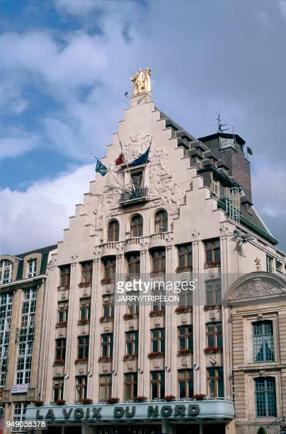 the head office of the regional daily newspaper 'La Voix du Nord' Lille le siège du quotidien régional La Voix du Nord