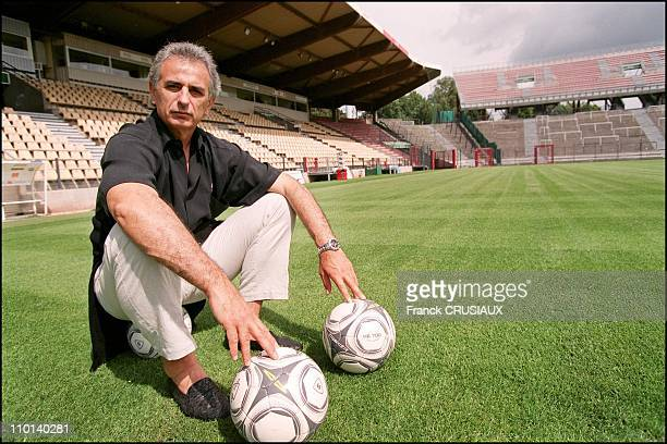 Lille Vahid Halilhodzic coach of the Lille Olympic Sporting Club at Grimomprey Jooris stadium in Lille France on August 16 2001