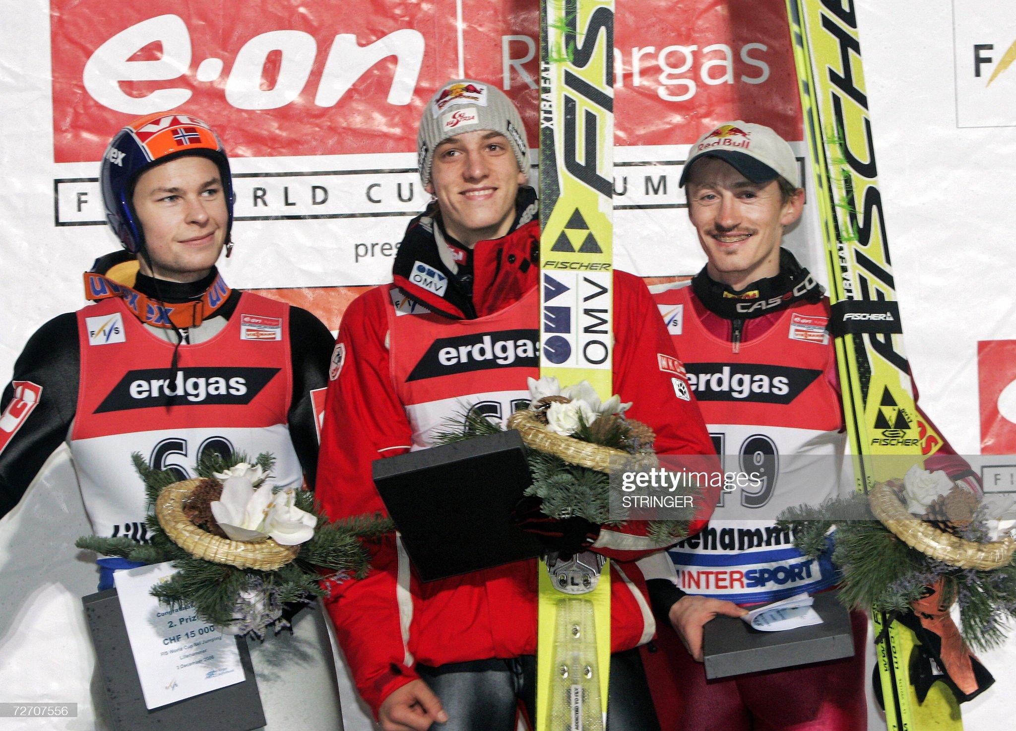3 декабря 2006 года, Лиллехаммер: Андреас Якобсен, Грегор Шлиренцауэр, Адам Малыш