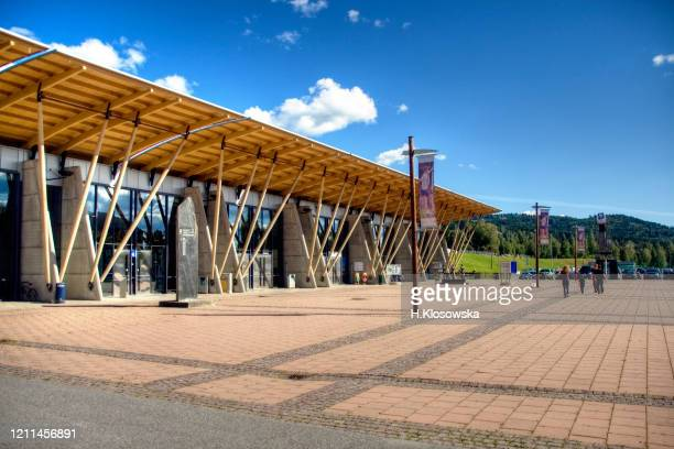 lillehammer olympic park, tourist centre - winter sports event stock pictures, royalty-free photos & images