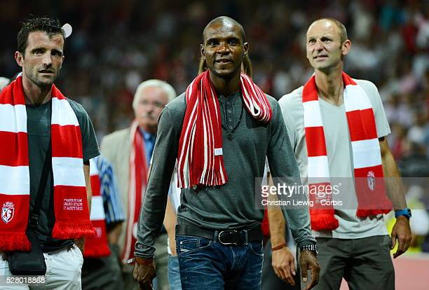 Lille's Eric Abidal during the French First League soccer match Lille OSC Vs AS Nancy Lorraine for the first time at 'Le Grand Stade Lille Metropole'...