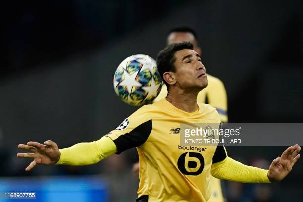 Lille's French midfileder Benjamin Andre controls the ball during the UEFA Champions league Group H football match between Ajax FC Amsterdam and LOSC...
