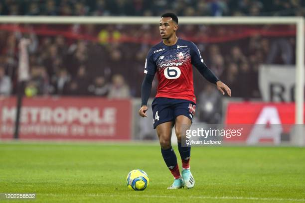 Lille's Gabriel during the Ligue 1 match between Lille OSC and Paris Saint-Germain at Stade Pierre Mauroy on January 26, 2020 in Lille, France.