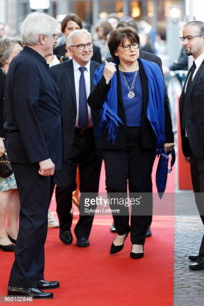 Lille's mayor Martine Aubry attends closing ceremony of Series Mania Lille Hauts de France festival on May 5 2018 in Lille France