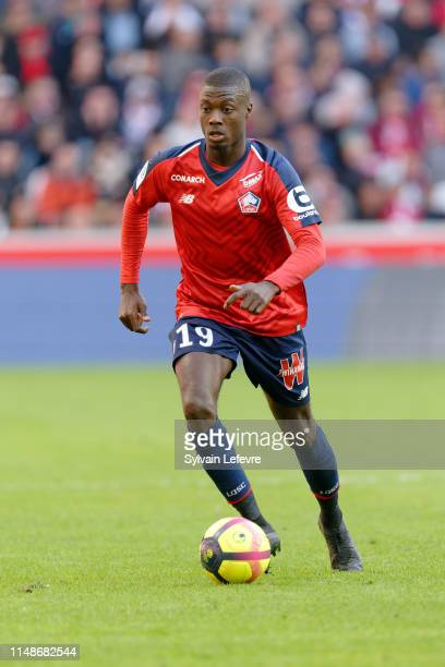 Lille's player Nicolas Pepe during the match Lille vs Bordeaux at Stade Pierre Mauroy on May 12 2019 in Lille France