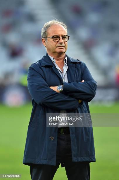 Lille's Portuguese sports director Luis Campos looks on prior the French L1 football match between Toulouse and Lille, at the Municipal Stadium in...