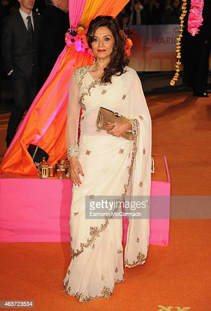 Lillete Dubey attends The Royal Film Performance and World Premiere of 'The Second Best Exotic Marigold Hotel' at Odeon Leicester Square on February...