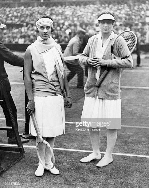 Lilli Alvarez And Helen Wills At Wimbledon In 1927
