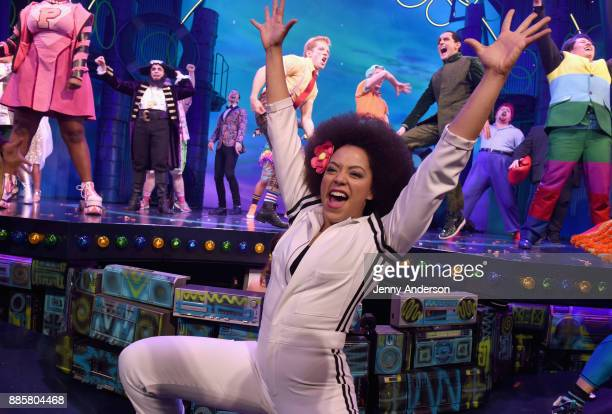 Lilli Cooper poses onstage during opening night of Nickelodeon's SpongeBob SquarePants The Broadway Musical at Palace Theatre on December 4 2017 in...