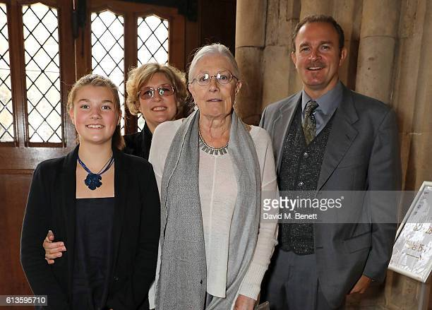Lilli Nero Jennifer Wiltsie Vanessa Redgrave and Carlo Nero attend the UK Theatre Awards 2016 at The Guildhall on October 9 2016 in London England