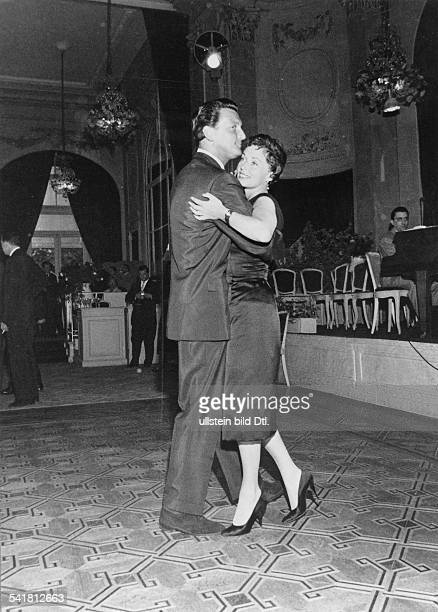 Lilli Palmer * Actress Germany dancing with her husband Carlos Thompson in Cannes 1958