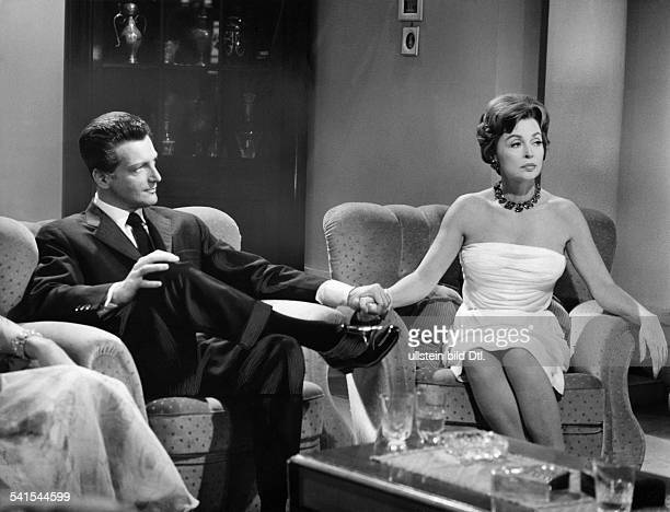 Lilli Palmer * Actress Germany with Carlos Thompson in the film The End of Mrs Cheney director Franz Josef Wild Germany 1961