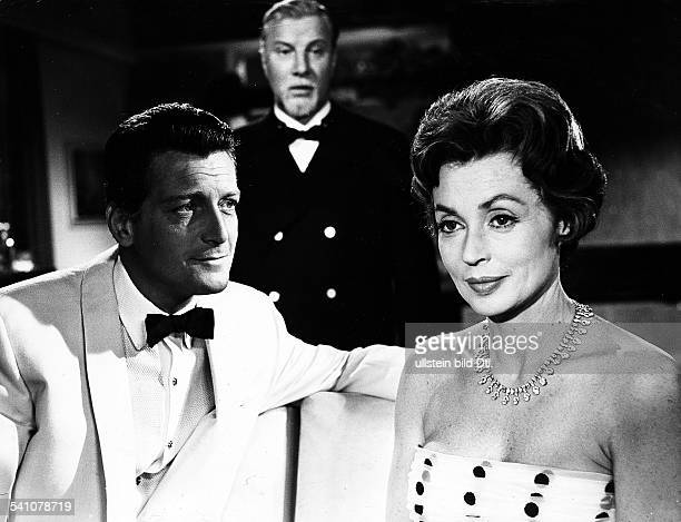 Lilli Palmer, *-, Actress, Germany - with Carlos Thompson and Martin Held in the film 'The End of Mrs. Cheney', director: Franz Josef Wild - Germany,...