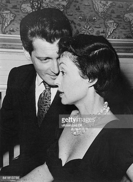 Lilli Palmer * Actress Germany with her husband Carlos Thompson 1957