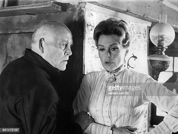 "Lilli Palmer, *-+, Actress, Germany - with Paul Verhoeven in the film ""Dance of Death"", director: Michael Verhoeven - Germany, 1967"