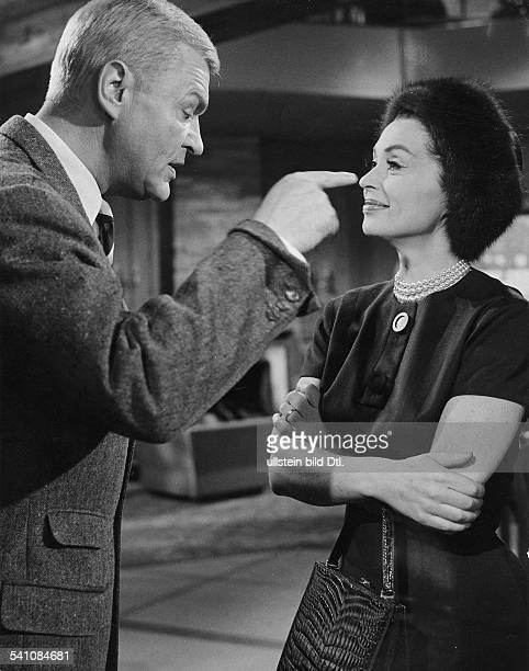 Lilli Palmer * Actress Germany with Peter van Eyck in the film 'Finden Sie dass Constanze sich richtig verhaelt' director Tom Pevsner Germany 1962