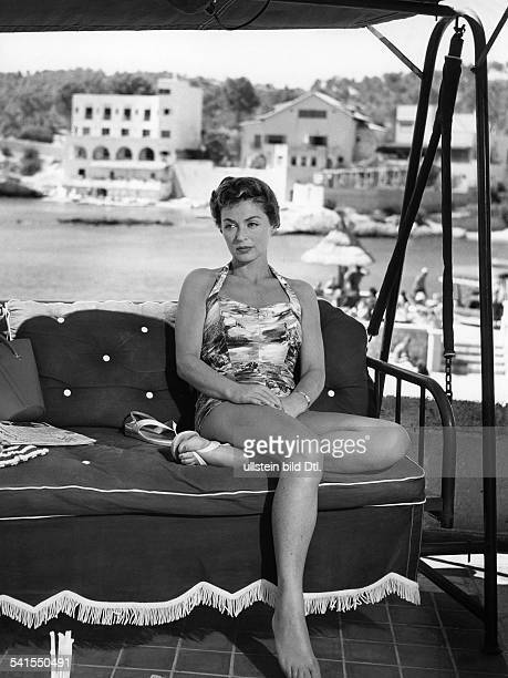 "Lilli Palmer, *-+, Actress, Germany - in the film ""Between Time and Eternity"", director: Arthur Maria Rabenalt - Germany, 1956"