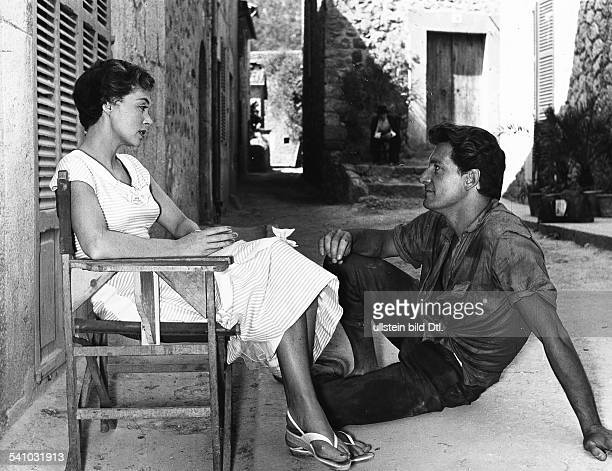 Lilli Palmer * Actress Germany with Carlos Thompson in the film 'Between Time and Eternity' director Arthur Maria Rabenalt Germany 1956