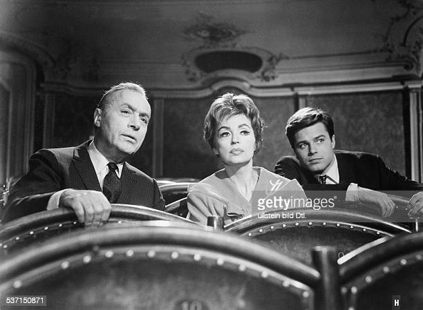 Lilli Palmer, , Actress, Germany - with Charles Boyer and Jean Sorel in the film 'The Seduction of Julia', director: Alfred Wiedemann -...