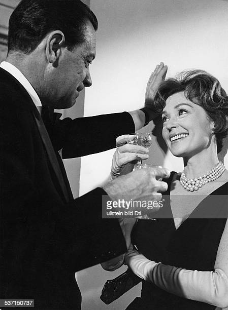 Lilli Palmer Actress Germany with William Holden in the film 'The Conterfeit Traitor' USA 1960