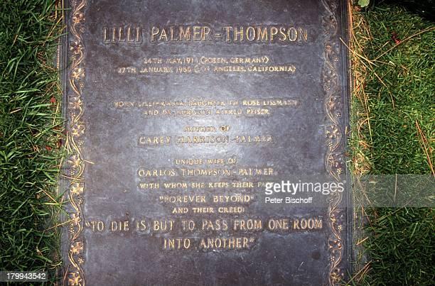 Lilli Palmer Grab Los Angeles / Kalifornien / USA / Nordamerika Friedhof GrabPlatte Schauspielerin