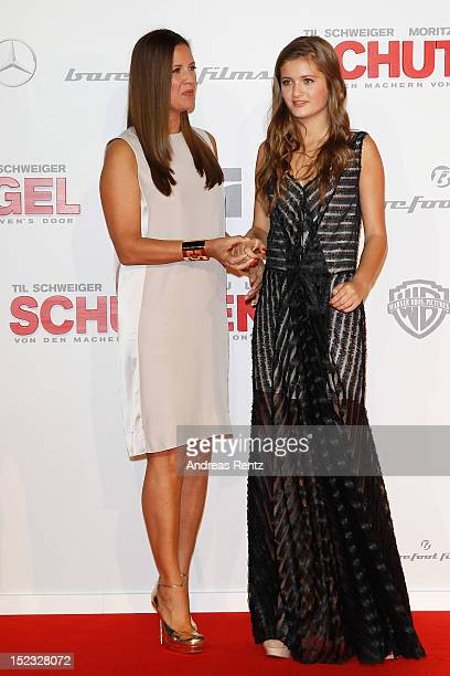 Lilli Schweiger and mom Dana Schweiger attend the 'Schutzengel' Premiere at CineStar on September 18 2012 in Berlin Germany