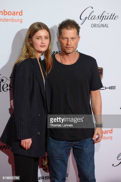 Lilli Schweiger and Til Schweiger attend the Medienboard BerlinBrandenburg Reception at The 68th Berlinale International Film Festival on February 17...