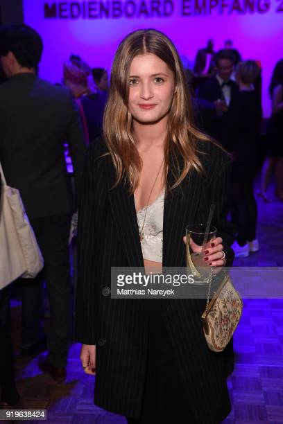 Lilli Schweiger attends the Medienboard BerlinBrandenburg Reception during the 68th Berlinale International Film Festival Berlin at on February 17...