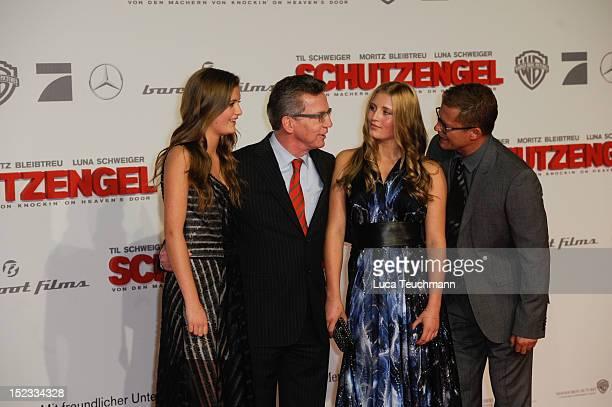 Lilli Schweiger German Defense Minister Thomas de Maiziere Luna Schweiger and Til Schweiger attends the premiere of 'Schutzengel' at Sony Center on...