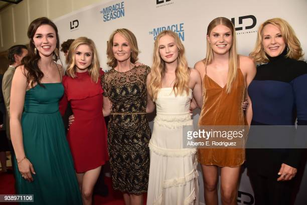 Lillian DoucetRoche Erin Moriarty Helen Hunt Danika Yarosh Natalie Sharp and Rebecca Staab attend the Premiere Of Mirror And LD Entertainment's The...