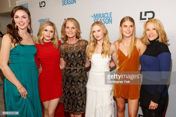 Lillian DoucetRoche Erin Moriarty Helen Hunt Danika Yarosh Natalie Sharp and Rebecca Staab attend the Premiere Of Mirror And LD Entertainment's 'The...