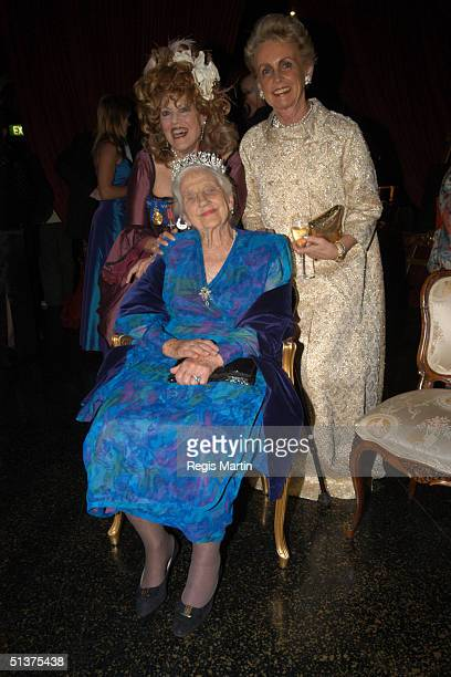Lillian Frank and Dame Elisabeth Murdoch AC DBE CBE and Lady Sonia McMahon arrive at the Number 12 in Melbourne for A Right Royal Affair A sumptuous...
