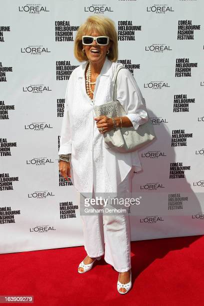 Lillian Frank arrives at the L'Oreal Paris Luncheon on day one of L'Oreal Melbourne Fashion Festival on March 18 2013 in Melbourne Australia