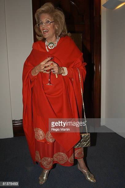 Lillian Frank at the Moet Chandon Fashion Ball 2003 at the State Reference Library in Melbourne Victoria Australia