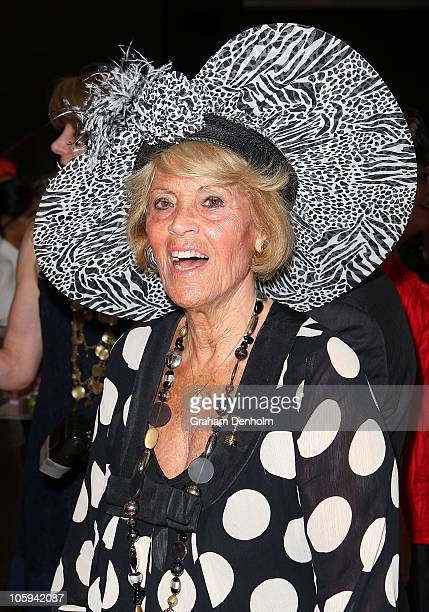 Lillian Frank attends the David Jones Ladies' Fashion Luncheon ahead of the Spring Racing Carnival on October 22 2010 in Melbourne Australia