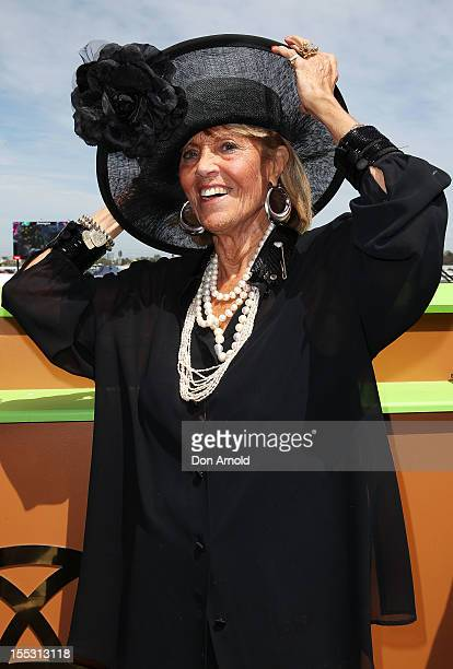 Lillian Frank attends the Emirates marquee on Derby Day at Flemington Racecourse on November 3 2012 in Melbourne Australia
