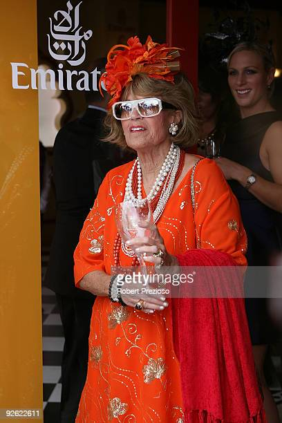 Lillian Frank poses at the Emirates marquee during the Emirates Melbourne Cup Day 2009 at Flemington Racecourse on November 3 2009 in Melbourne...