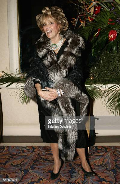 Lillian Frank poses at the Opening Night Celebration Party following the Melbourne Premiere of The Lion King at the Sofitel Hotel July 28 2005 in...