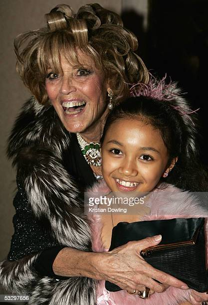 Lillian Frank poses with cast member Jana Baldemoro at the Opening Night Celebration Party following the Melbourne Premiere of The Lion King at the...