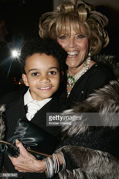 Lillian Frank poses with cast member Tarik Frimpong at the Opening Night Celebration Party following the Melbourne Premiere of The Lion King at the...