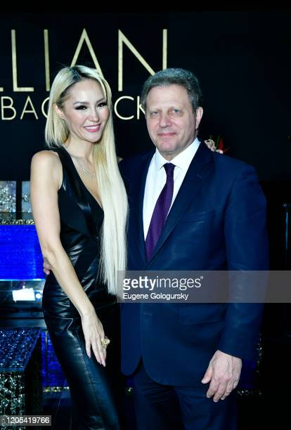 Lillian Gorbachincky and Stuart Sundlan attend the Andrea Bocelli Foundation Lillian Gorbachincky Present First Annual Luncheon at AD Building on...