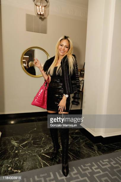 Lillian Gorbachincky attends Geoffrey Bradfield Reception For Stage Set at Georgian Suite on November 20 2019 in New York City